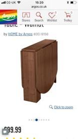 Walnut folding table
