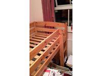 Cabin Bed standard single size with nearly new Memory Foam Mattress
