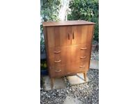Mid Century Teak Chest of Drawers / Tall Boy by Wrighton, London