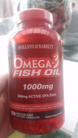 Omega 3 fish oils 1000mg. 250 capsules. bargain