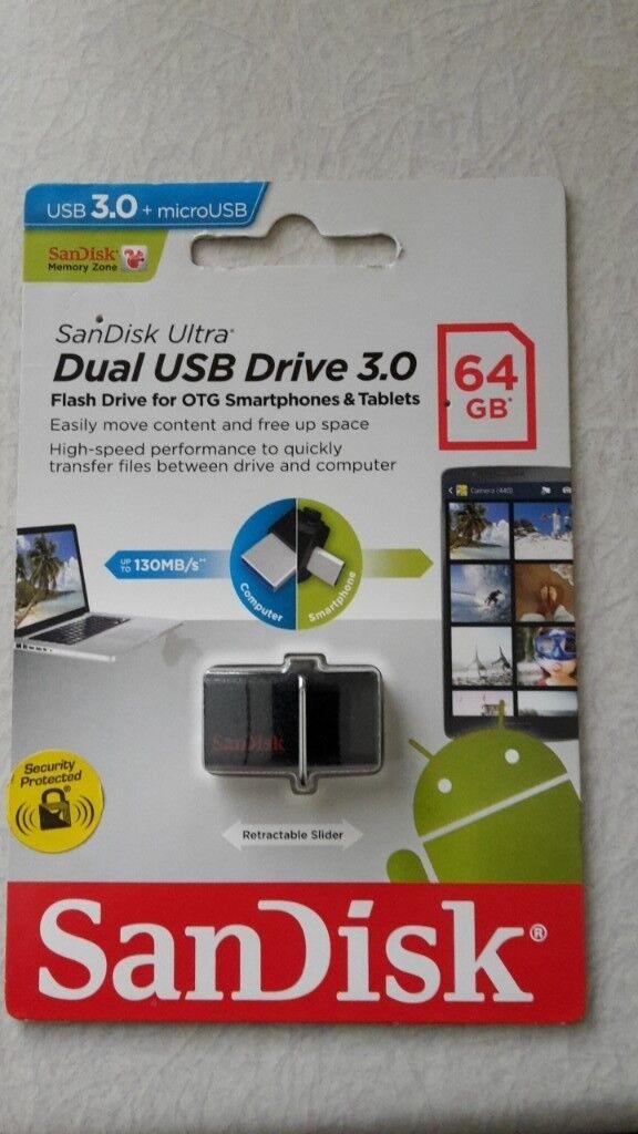 Sandisk ultra usb drive 3.0 64gb dual drive