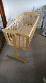 Mothercare wooden rocking crib