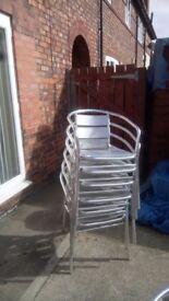 6 metal garden chairs