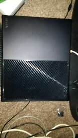 Xbox one with clip on external hard drive casing
