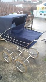 Restmor vintage pram and carry cot
