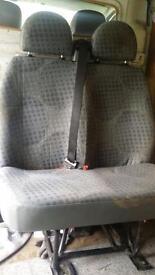 Double rear van seats