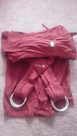 Maroon organic cotton sling - baby carry, baby sling
