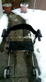 4 wheel disability walker