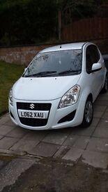 Suzuki splash, metallic white, excellent condition, 17000 miles and 9 month MOT.