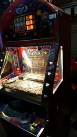 Reduced bargain price Old arcade coin pusher harry levy mancave or pub