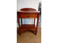 Solid wood antique pine varnished bedside cabinet