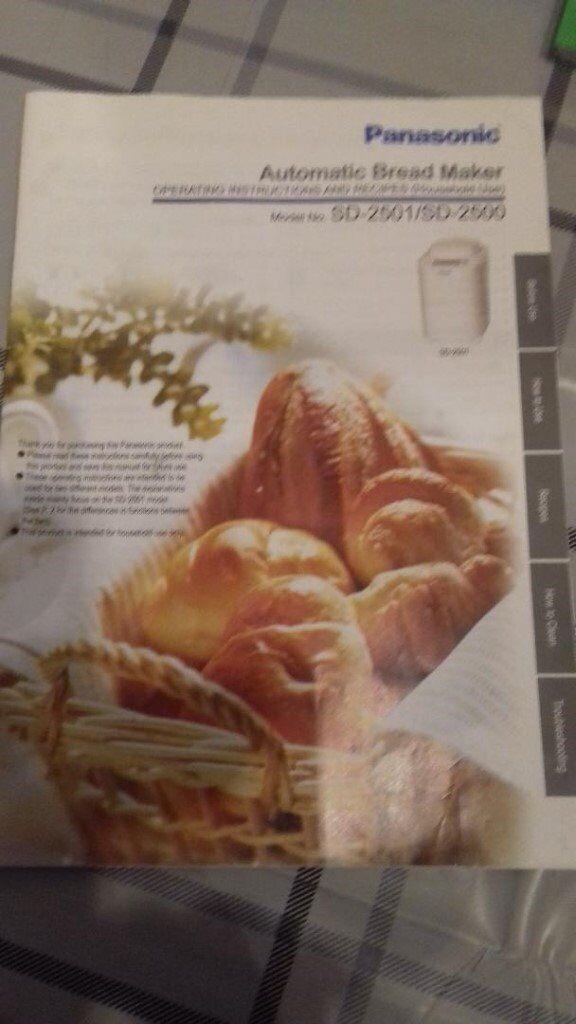 Panasonic Automatic Bread Maker. Model SD-2501/SD2500