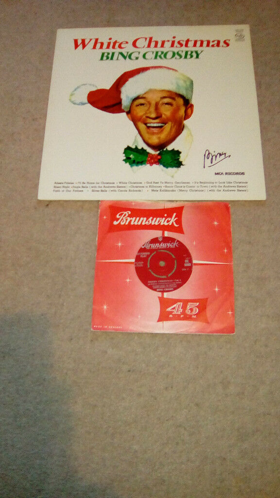 BING CROSBY-CHRISTMAS LP,PLUS A XMAS EP-EX