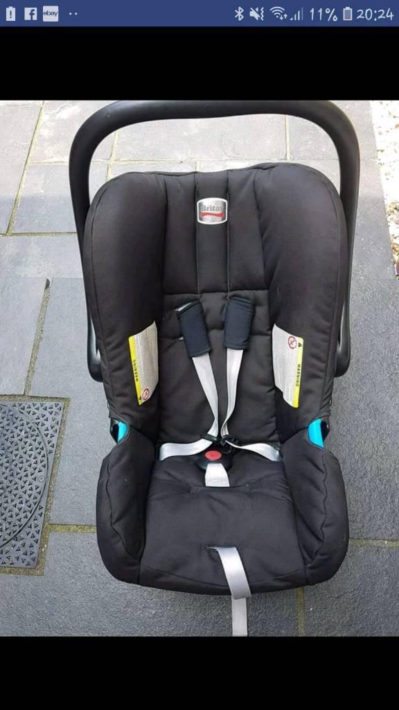 Britax Infant Car Seat And Belt Base