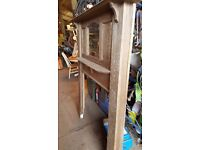 Large Vintage Fire Surround with mirror