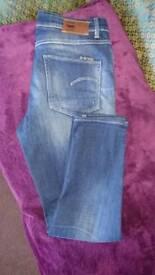 "Ladies Jeans Gstar raw, style 3301 28""waist 32""length"