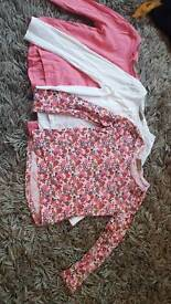 Next girls set of 3 long sleeve tops age 3-4