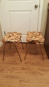 Mid Century Compact Stacking Stools - FREE DELIVERY