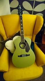 Fender Tim Armstrong Hellcat Acoustic guitar in Honour Green