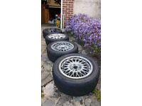 """4x 15"""" Alloys BBS Yokohama AO48 track wheels"""