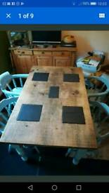 Rustic Shabby Chic Dining Table and Chairs