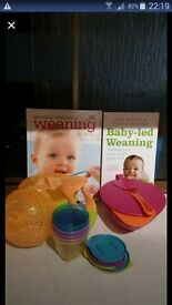 weaning stuff bundle books and pots ...