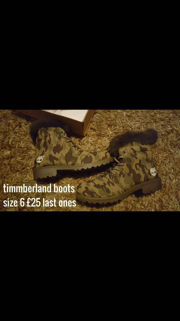 Timmberland Boots Size 6 camo colours