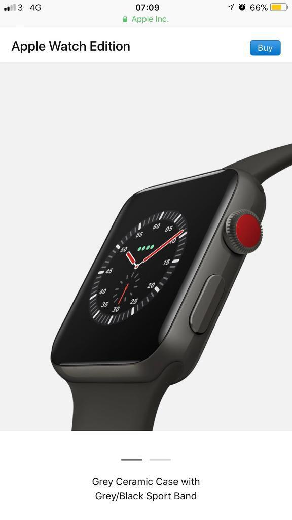 promo code b99f0 f6a65 Apple Watch Series 3 (GPS + Cellular), 42mm Space Grey Aluminium Case With  Grey Sport Band | in Beckenham, London | Gumtree