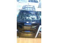 ZANUSSI black 60Cm Gas Cooker in Ex Display which may have minor marks or blemishes.