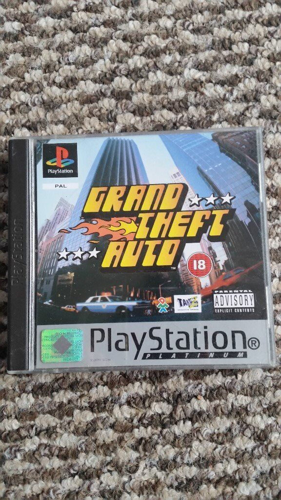 playstation 1 GTA platium with maps and instructions