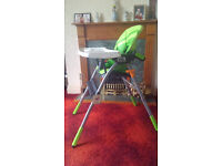 CHICO JAZZY HIGH CHAIR (Green Wave)