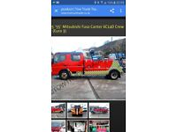 MITSIBISHI CANTER CREWCAB SWAN NECK SPEC LIFT