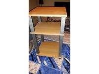 bedside table with 3 shelves