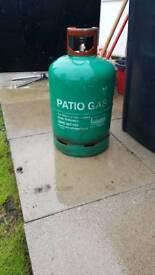 Bbq/patio heater gas propane bottle full