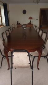 Mahogany Dining Room Table when extended seats 16
