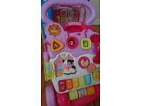 VTech First Steps baby activity walker - pink - mint condition with box - £13