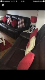 Great condition three and two sofas