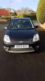 Ford Fiesta ST150 2005, black, lowered, stainless exhaust, 80,897 miles, MOT