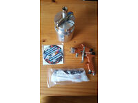 DeVilbiss advanced HD professional spray gun & suction cup. brand new in box with service kit & dvd