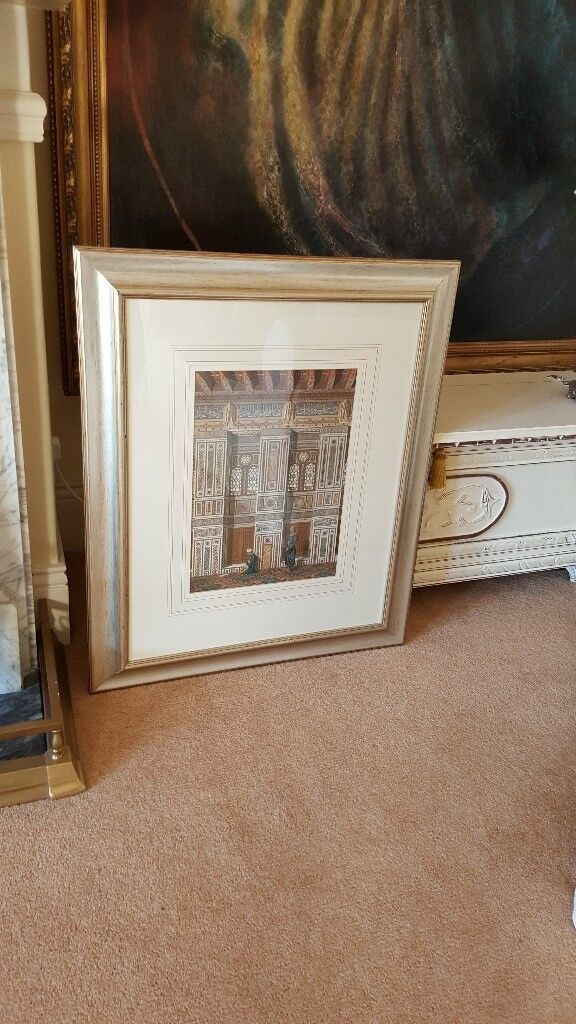 large Arabic temple interior picture, top quality frame etc