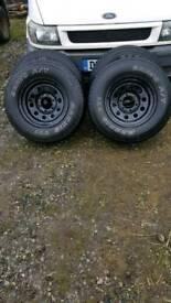Isuzu trooper modular wheels with all terrain tyres!!
