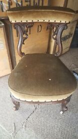 Vintage Lounge Chair. Good condition good light project.