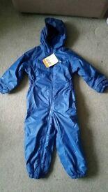 Boys Regatta Snow Suit - Blue.