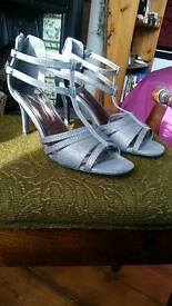 Sparkly Party Heels size 6 wide fit