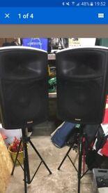 "Pair of celestion loaded 15"" 600 watts pa dj speakers"