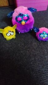 Furby collection boom crystal and furblings