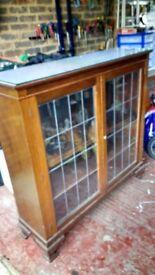 Mahogany Display cabinet or bookcase