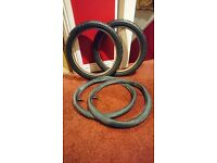 """NEW - two 16"""" x 1.75 (44 x 305) Tyres and tubes. Collect only: Ellon."""