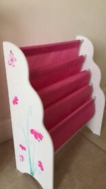 Gorgeous pink butterfly sling bookcase