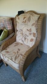 very comfortable wicker chair